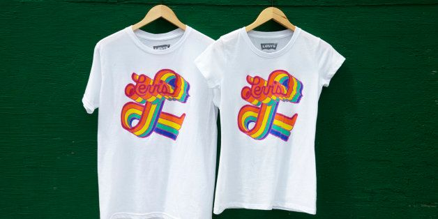 2b8472d9f Levi's Introduces Gay Pride Line Featuring T-Shirts, Hats (PHOTOS) |  HuffPost