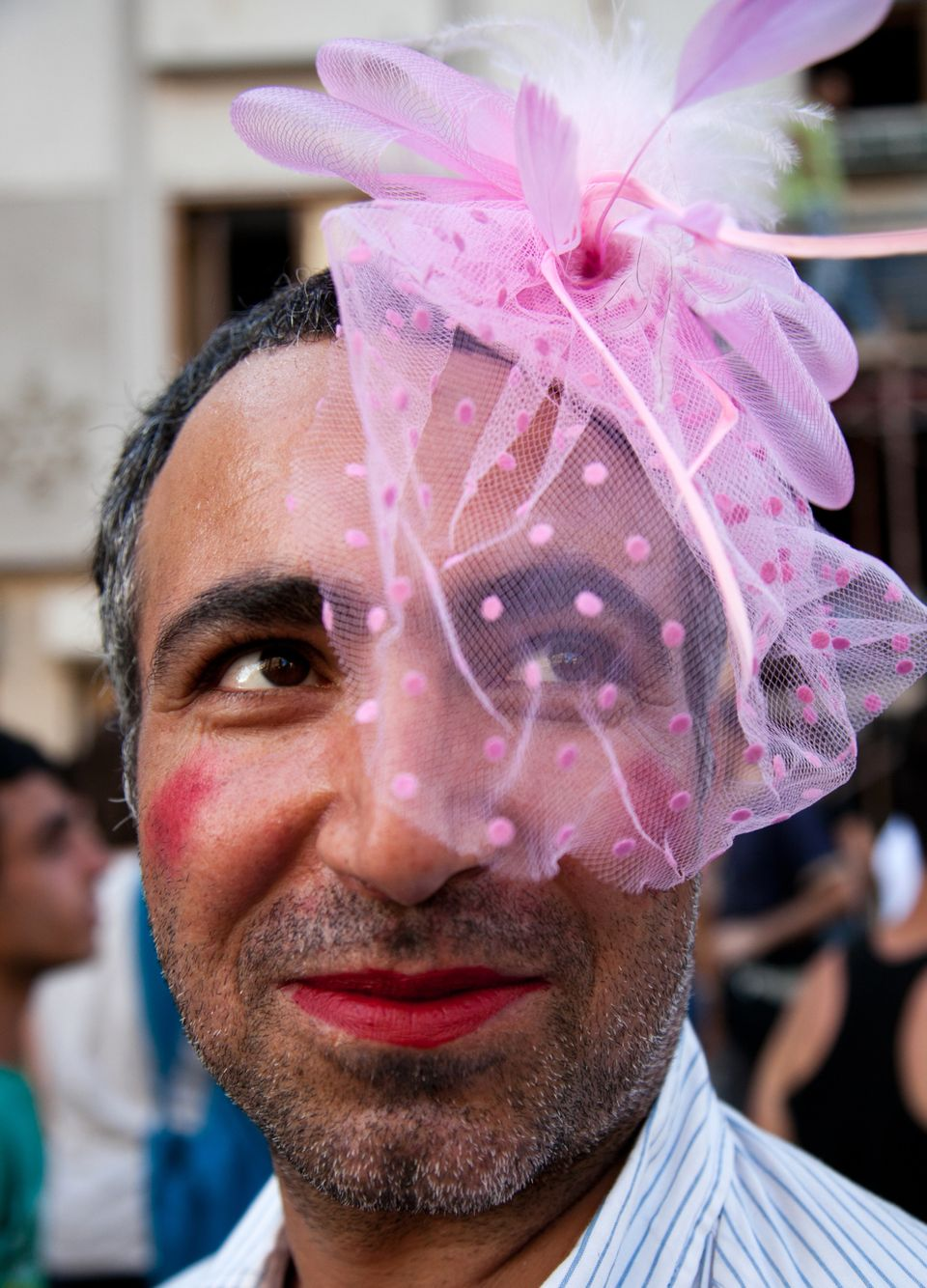A man takes part in a march during anti-government protests on Istiklal Street, the main shopping corridor on June 23, 2013 i