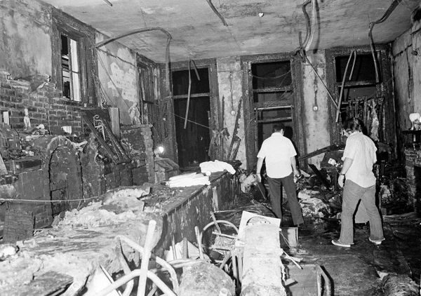 This is a view inside the UpStairs bar following a flash fire that left 29 dead and 15 injured, June 25, 1973. Most of the vi