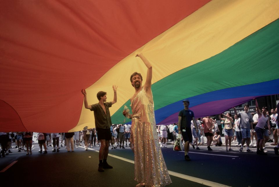 USA. New York City. 1994. Greenwich Village. 25th Anniversary of Gay Revolt at Stonewall.