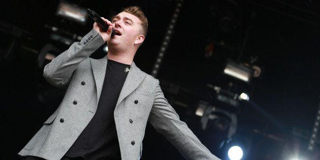 DUBLIN, IRELAND - JULY 19: Sam Smith performs at the Longitude festival, Marlay Park, Dublin at Marley Park on July 19, 2014