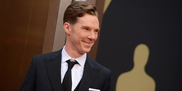 Benedict Cumberbatch arrives at the Oscars on Sunday, March 2, 2014, at the Dolby Theatre in Los Angeles.  (Photo by Jordan S