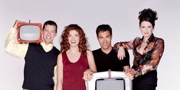 WILL & GRACE -- Season 3 -- Pictured: (l-r) Sean Hayes as Jack McFarland, Debra Messing as Grace Adler, Eric McCormack as Wil