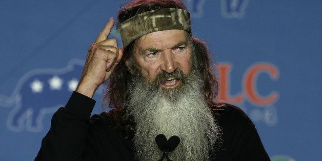 NEW ORLEANS, LA - MAY 29:  Reality TV personality Phil Robertson speaks during the 2014 Republican Leadership Conference on M
