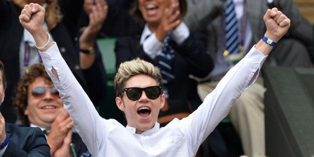 LONDON, ENGLAND - JUNE 26:  Niall Horan attends the Lukas Rosol v Rafael Nadal match on centre court during day four of the W