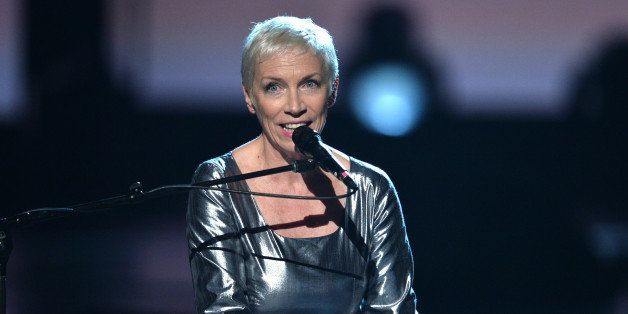 LOS ANGELES, CA - JANUARY 27:  Recording artist Annie Lennox of Eurythmics performs onstage during 'The Night That Changed Am