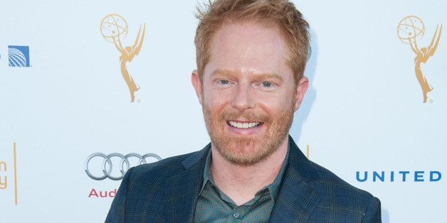 WEST HOLLYWOOD, CA - AUGUST 23:  Actor Jesse Tyler Ferguson arrives at the Television Academy's 66th Annual Emmy Awards Perfo