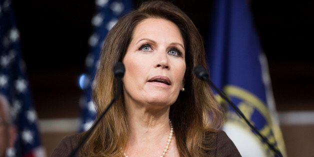 UNITED STATES - JUNE 26: Rep. Michele Bachmann, R-Minn., joins House Republicans to speak during a news conference in opposit