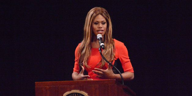 """Orange is the New Black"" star Laverne Cox speaks to a sold out crowd for her national 'Ain't I a Woman?' speaking"