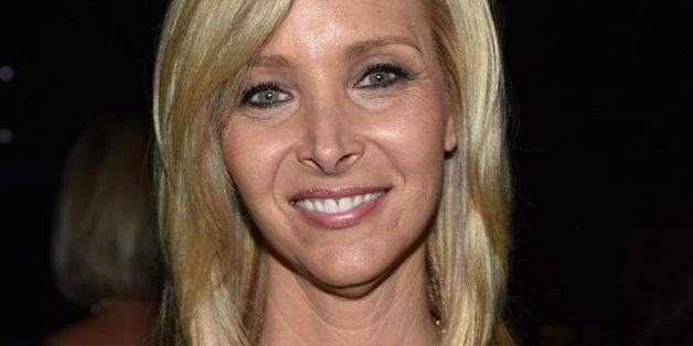 EXCLUSIVE - Lisa Kudrow poses backstage at the Television Academy's Creative Arts Emmy Awards at the Nokia Theater L.A. LIVE