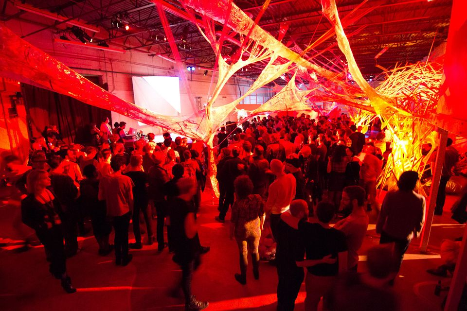 The MIX 2013 venue was transformed literally into the internals of a living organism, focusing on themes such as blood, bones
