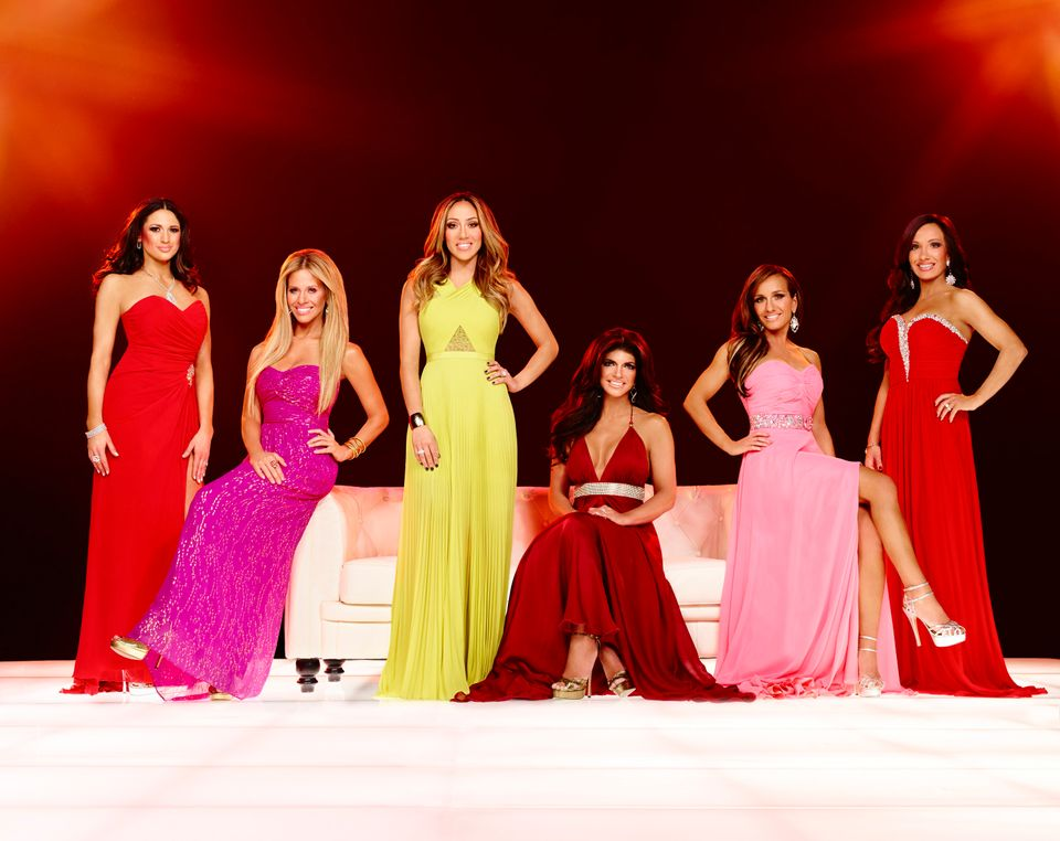THE REAL HOUSEWIVES OF NEW JERSEY -- Season:6 -- Pictured: (l-r) Amber Marchese, Dina Manzo, Melissa Gorga, Teresa Guidice, N