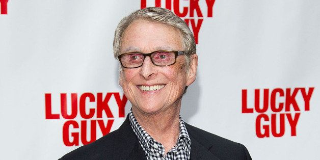 "FILE - This April 1, 2013 file photo shows director Mike Nichols at the ""Lucky Guy"" opening night in New York. Nichols is get"