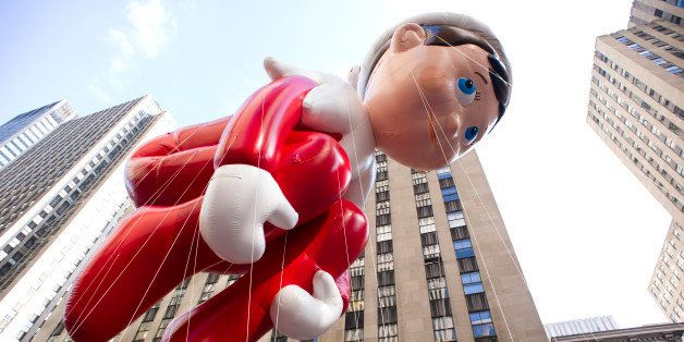 The Elf on the Shelf balloon floats in the Macy's Thanksgiving Day Parade in New York in New York, Thursday, Nov. 22, 2012. (