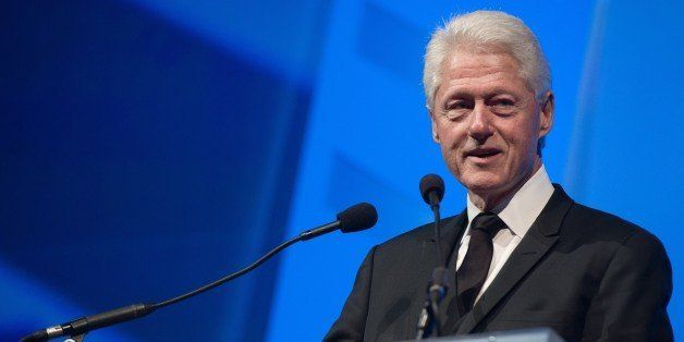 Former US president Bill Clinton addresses the 18th annual Human Rights Campaign (HRC) National Dinner in Washington on Octob