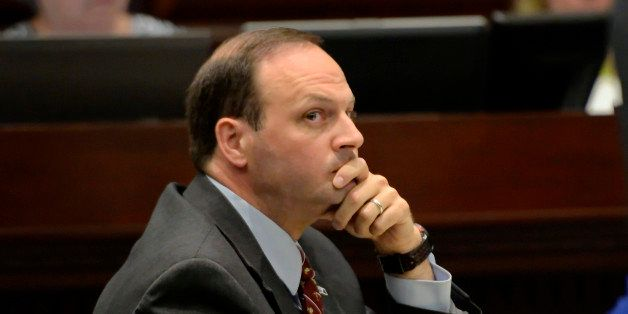 South Carolina Attorney General Alan Wilson listens during proceedings in the South Carolina Supreme Court Tuesday, June 24,