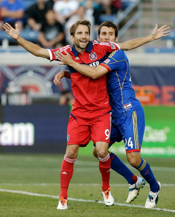 "In one of our favorite LGBT sports moments this year, Mike Magee, a Chicago Fire major league soccer player, <a href=""https:/"