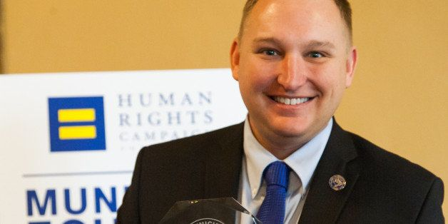 IMAGE DISTRIBUTED FOR HUMAN RIGHTS CAMPAIGN - Chris Seelbach is seen at MEI Launch, on Wednesday, November 12, 2014 in Cincin
