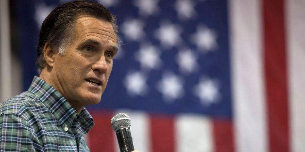 ANCHORAGE, AK - NOVEMBER 03: Former Massachusetts Gov. Mitt Romney addresses the crowd during a rally for Republican Senate c