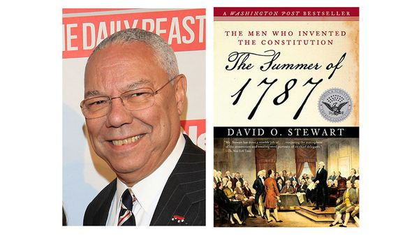 """<i>What book is on your nightstand now?</i> <br> <br> <i><a href=""""http://www.amazon.com/The-Summer-1787-Constitution-Collecti"""