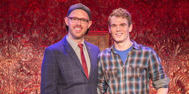 NEW YORK, NY - JANUARY 22:  Jay Armstrong and Ryan Scott Oliver attend the 54 Below Press Preview at 54 Below on January 22,
