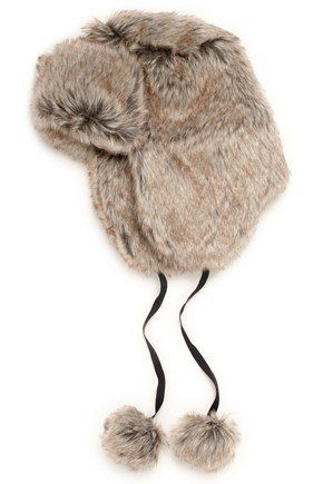 "Furry hat, <a href=""http://www.frenchconnection.com/"" target=""_hplink""><strong>French Connection, £24.</strong></a>"
