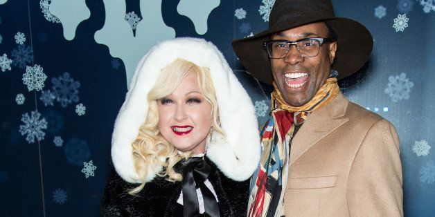 NEW YORK, NY - DECEMBER 03: Singer-songwriter Cyndi Lauper and actor Billy Porter attend the 82nd annual Rockefeller Christma