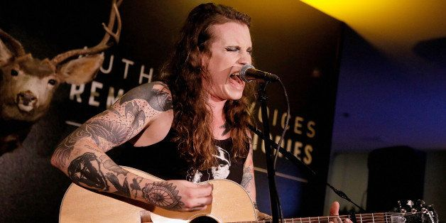 WEST HOLLYWOOD, CA - OCTOBER 09:  Musician Laura Jane Grace performs onstage during the AOL Originals Fall Premiere Event at