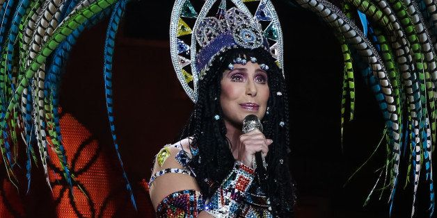 LOS ANGELES, CA - JULY 07:  Singer Cher performs during the 'Dressed 2 Kill' tour at Staples Center on July 7, 2014 in Los An