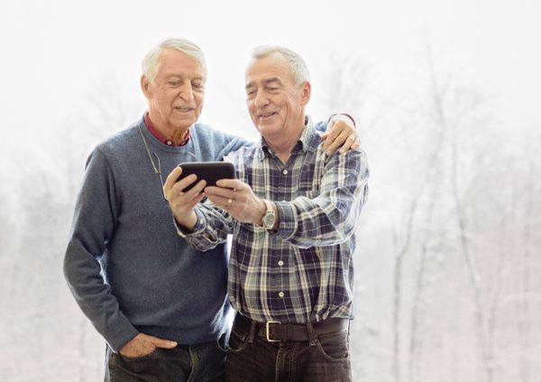 "A new campaign sends important health messages about LGBT elders via <a href=""https://unicornbooty.com/these-10-silver-daddie"
