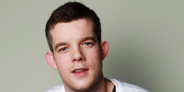 LONDON, ENGLAND - MARCH 14: Russell Tovey and BBC Radio 3 does 'something funny for money' and raises money for Comic Relief.