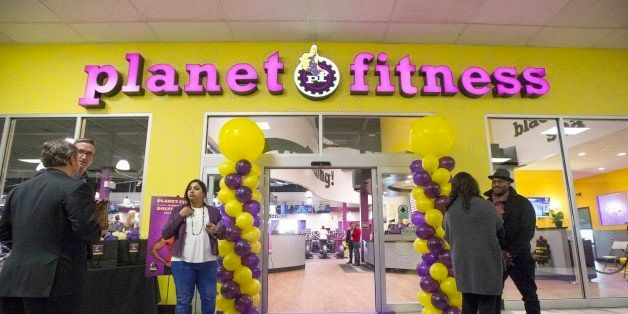TORONTO, ON -  JANUARY 7: Planet Fitness, a low cost gym chain, opened its first Canadian branch in Toronto. The franchise is