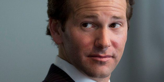 Representative Aaron Schock, a Republican from Illinois, pauses while speaking during an interview in Washington, D.C., U.S.,