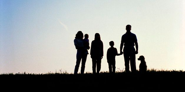 Silhouettes of family