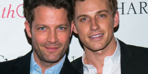 NEW YORK, NY - APRIL 23:  Interior designer Nate Berkus and Jeremiah Brent attend the Charm & Chain Kaleidoscope Collection L