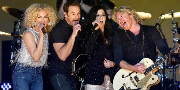 Members of the country group, Little Big Town, perform during the halftime show of the Orange Bowl NCAA college football game