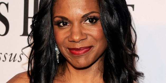 Actress Audra McDonald arrives at the 68th annual Tony Awards at Radio City Music Hall on Sunday, June 8, 2014, in New York.