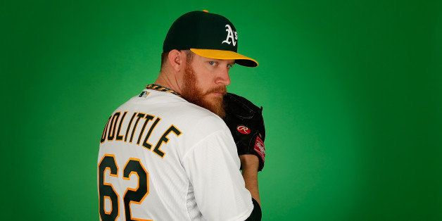 MESA, AZ - FEBRUARY 28:  Pitcher Sean Doolittle #62 of the Oakland Athletics poses for a portrait during the spring training