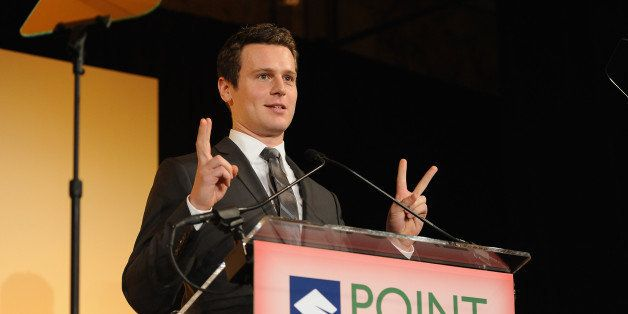 NEW YORK, NY - APRIL 13:  Actor Jonathan Groff accepts an award onstage at The Point Foundation's Annual Point Honors New Yor