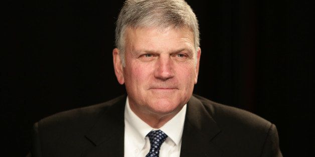 Franklin Graham before an interview at the Associated Press office on Tuesday, Oct. 15, 2013 in New York. (AP Photo/Peter Mor