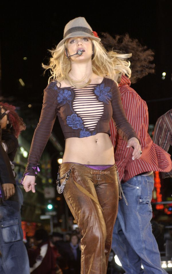 Clearly, Britney had a thing for low-rise pants in the early aughts.