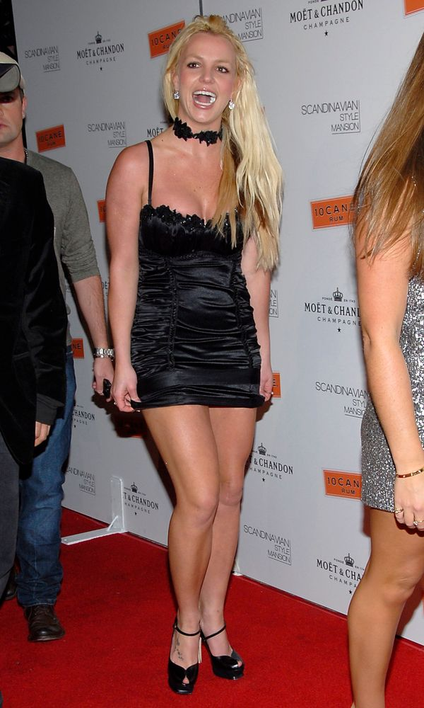 Even Britney knew that this dress wasn't the right choice.