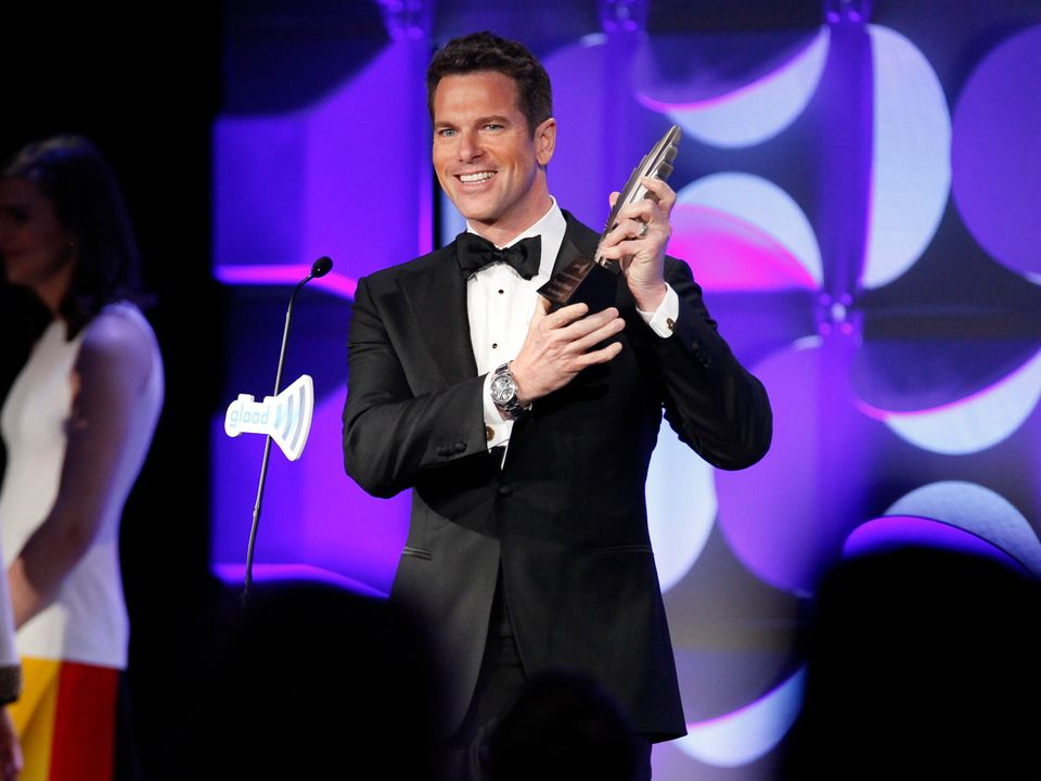 Thomas Roberts attends the 26th Annual GLAAD Media Awards at the Waldorf Astoria on Saturday, May 9, 2015, in New York. (Phot