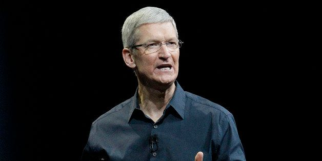 FILE - In this June 2, 2014, file photo, Apple CEO Tim Cook speaks at the Apple Worldwide Developers Conference event in San