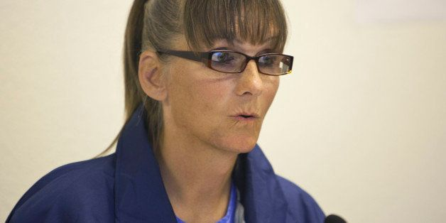 CORRECTS GENDER IDENTIFICATION TO TRANSGENDER - Inmate Michelle-Lael Norsworthy speaks during her parole hearing at Mule Cree