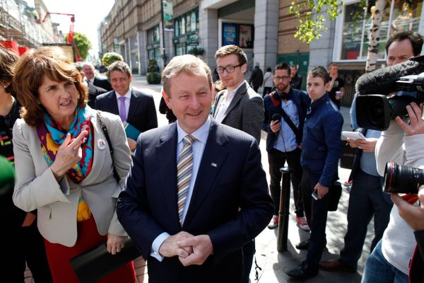 Irish Prime Minister Enda Kenny arrives to meet with members of the Yes Equality campaign during a photo call in Dublin, Irel
