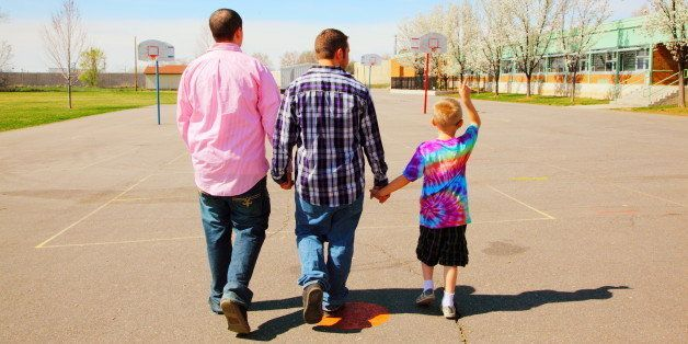 Happy, fun, bright & colorful springtime family-style images from our LGBTQ families photography session for TheNextFamil