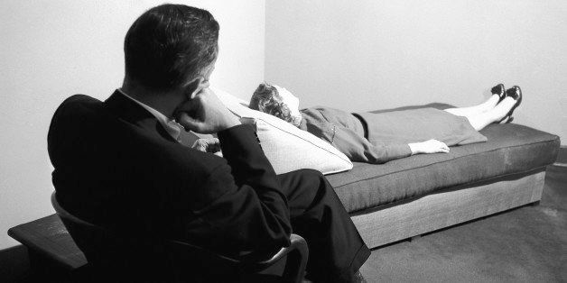 A doctor listens to a patient digging into her past at the New York Psychoanalytic Institute Treatment Center in New York, Ap