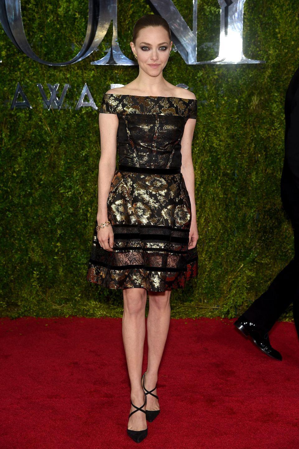 NEW YORK, NY - JUNE 07:  Amanda Seyfried attends the 2015 Tony Awards  at Radio City Music Hall on June 7, 2015 in New York C
