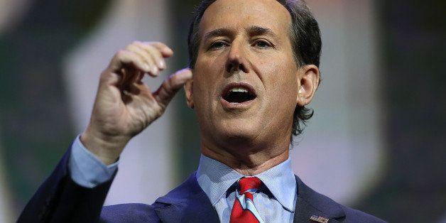 NASHVILLE, TN - APRIL 10:  Former U.S. Sen. Rick Santorum (R-PA) speaks during the NRA-ILA Leadership Forum at the 2015 NRA A